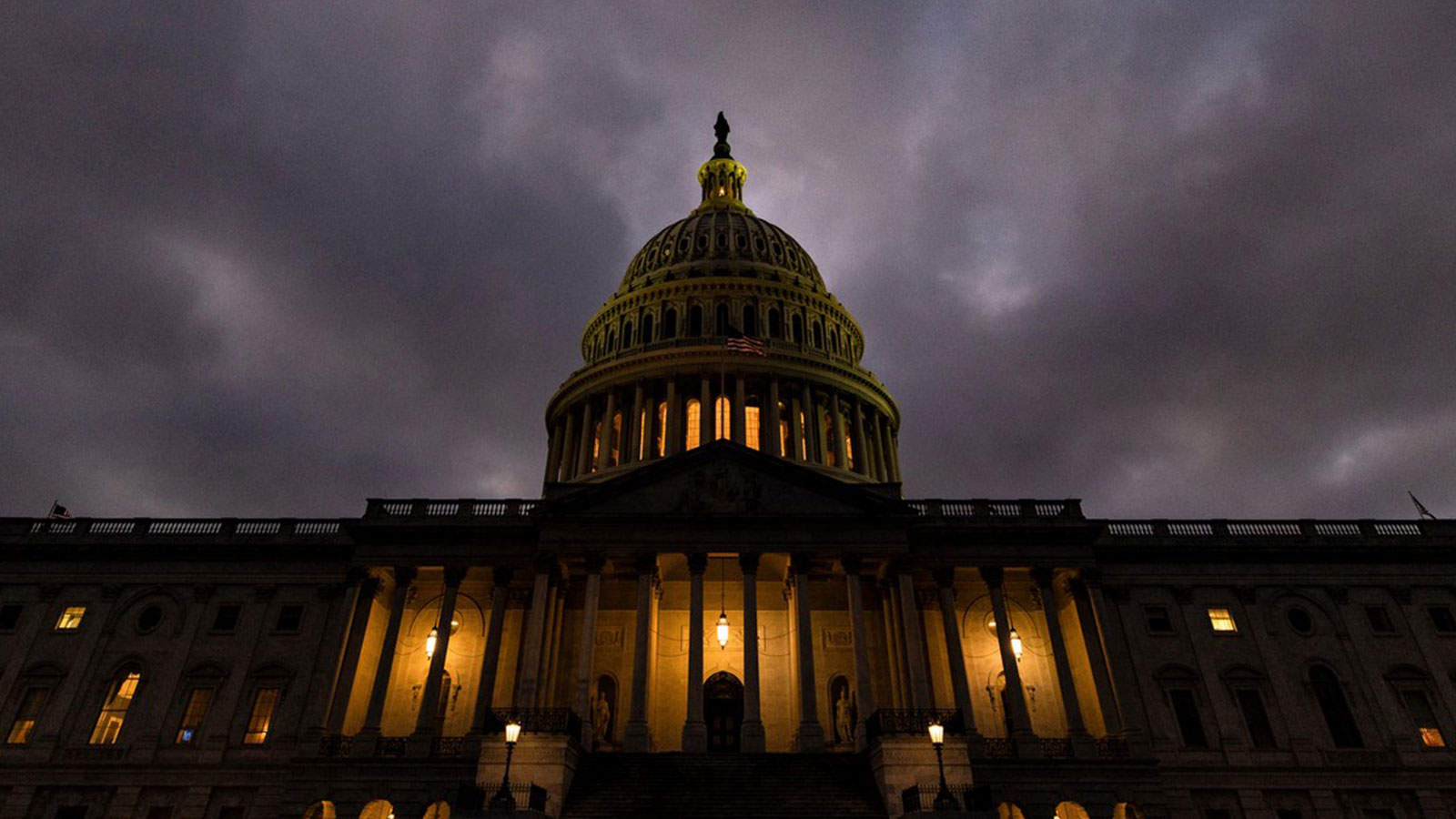 Dusk falls over the US Capitol building on December 20, 2020 in Washington, DC.