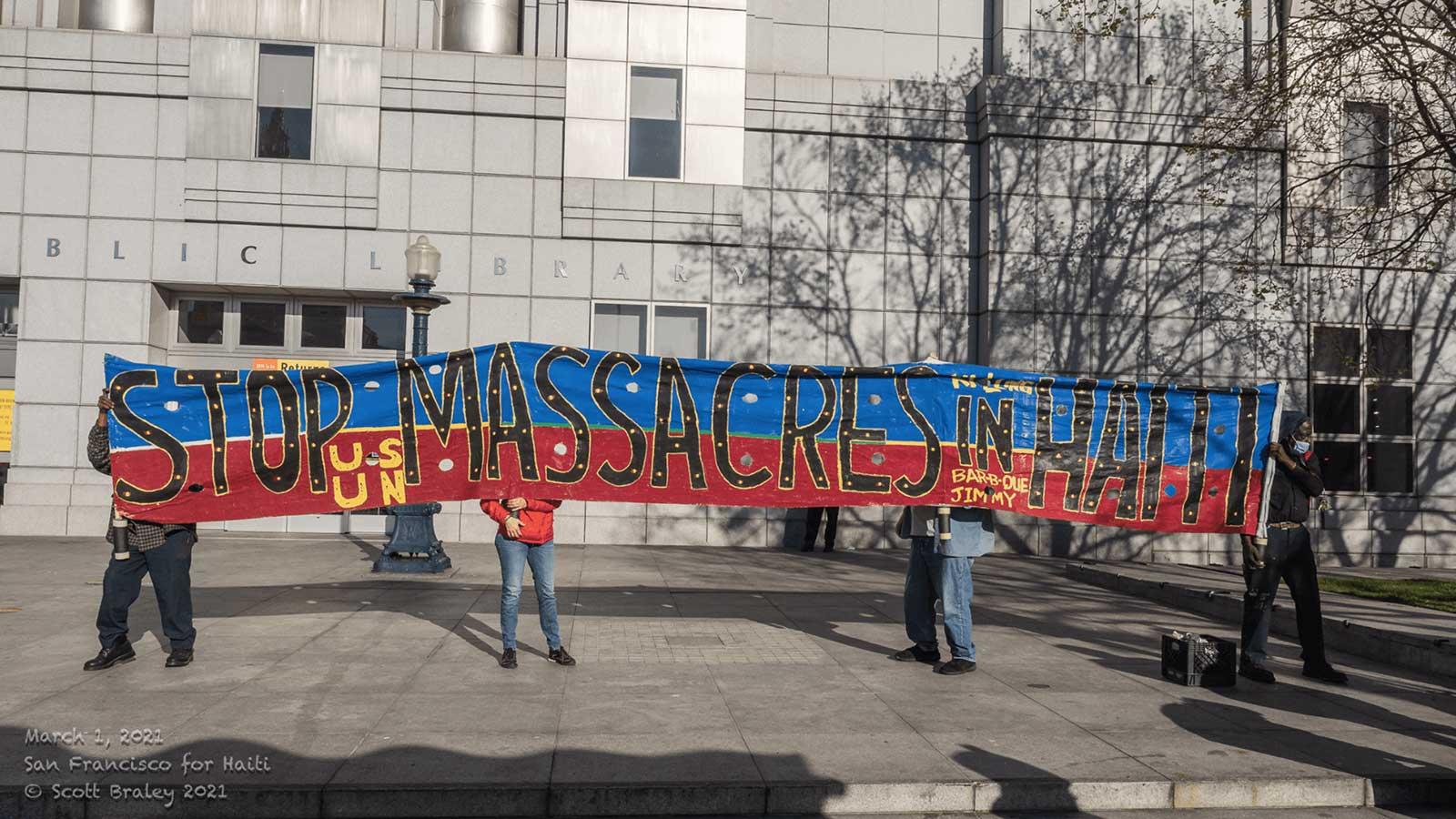 Recent solidarity protest in San Francisco.