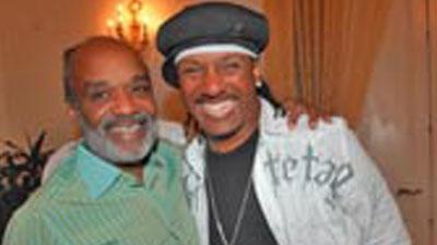 President Préval and rapper Kangol Kid.