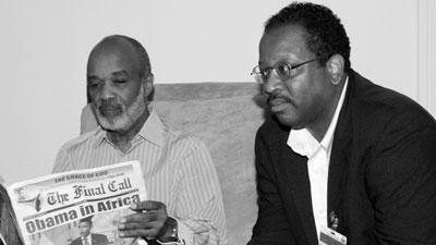 President Préval and Final Call Editor Richard B. Muhammad
