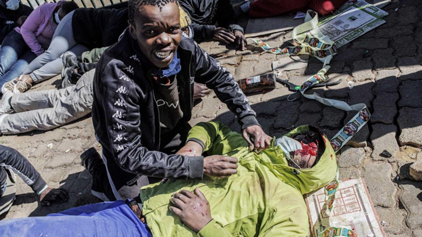 South Africa in turmoil: Man injured