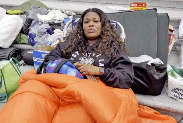 Cori Bush sleeps on Capitol steps as she blasts lawmakers over expiring eviction moratorium