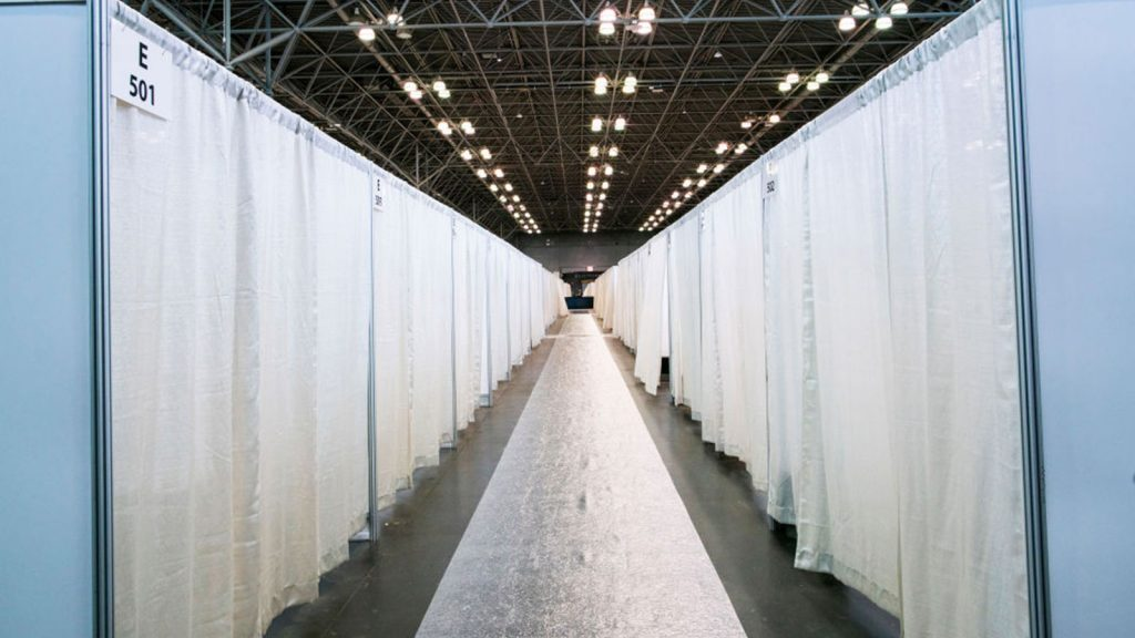 Hospital Beds at the Jacob K. Javits Convention Center, 2020.