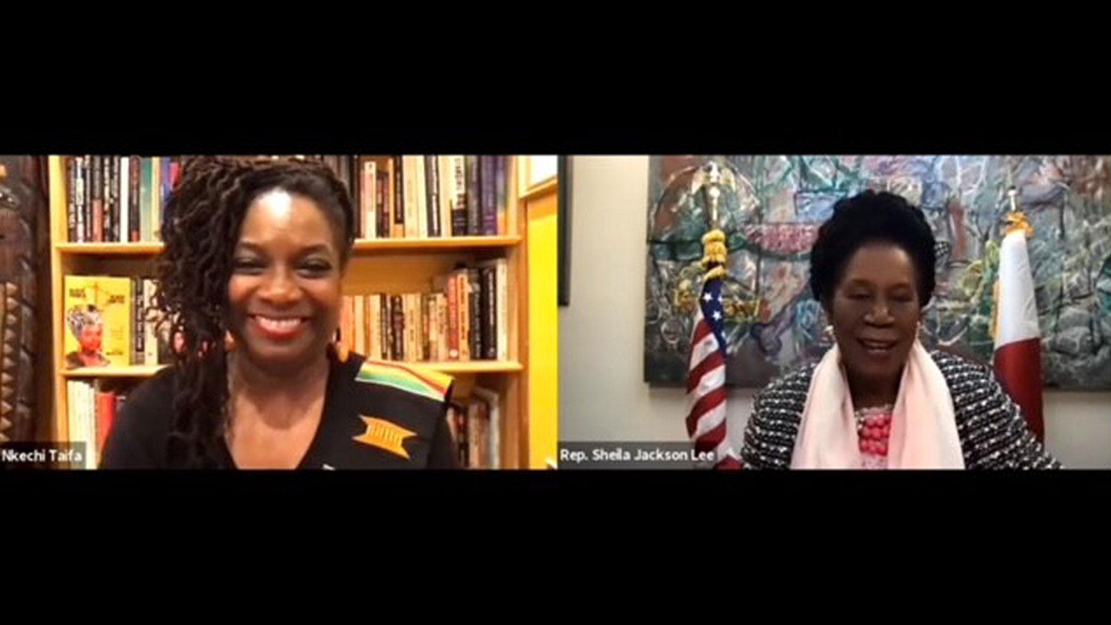 U.S. Rep. Sheila Jackson Lee and Nkechi Taifa