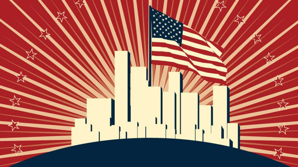 A shining city upon a hill; American exceptionalism.