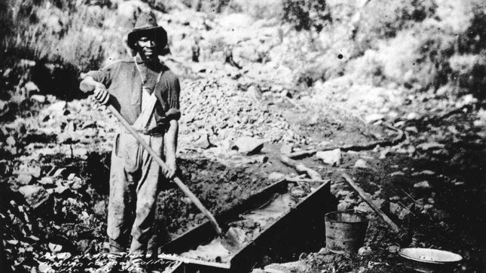 African Americans were used as slave labour in California and other western US territories during the 1850s. (