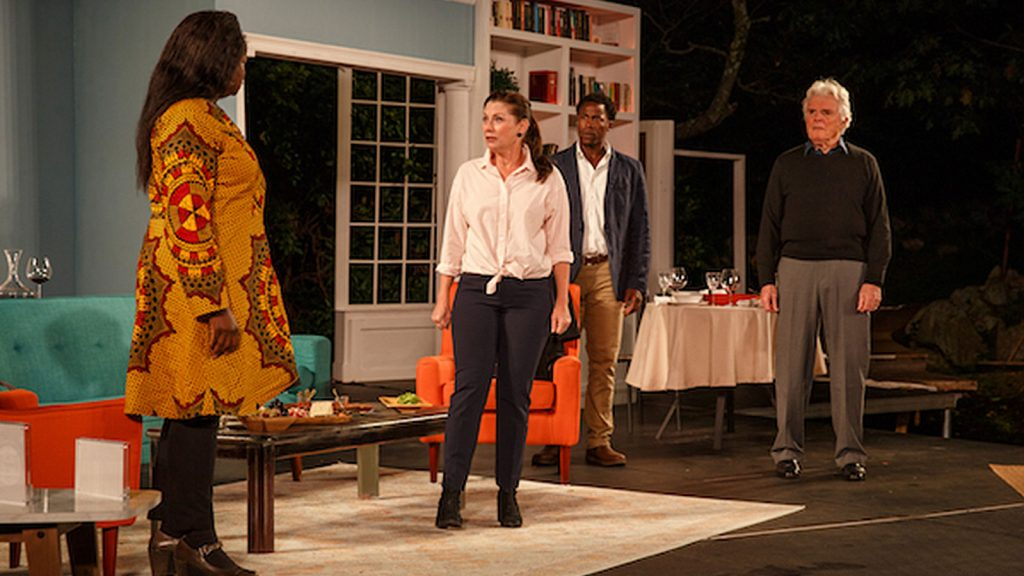 (l to r) Lisa Tharps, Angela Pierce, Jason Bowen, and Malcolm Ingram in the GSC production of Reparations