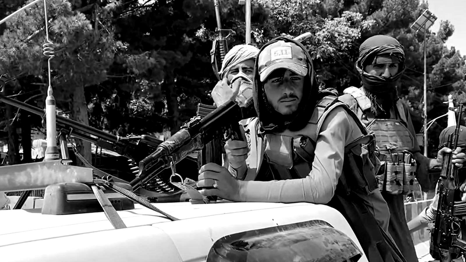 Taliban fighters in Kabul, Afghanistan on August 17 2021, Wikimedia Commons