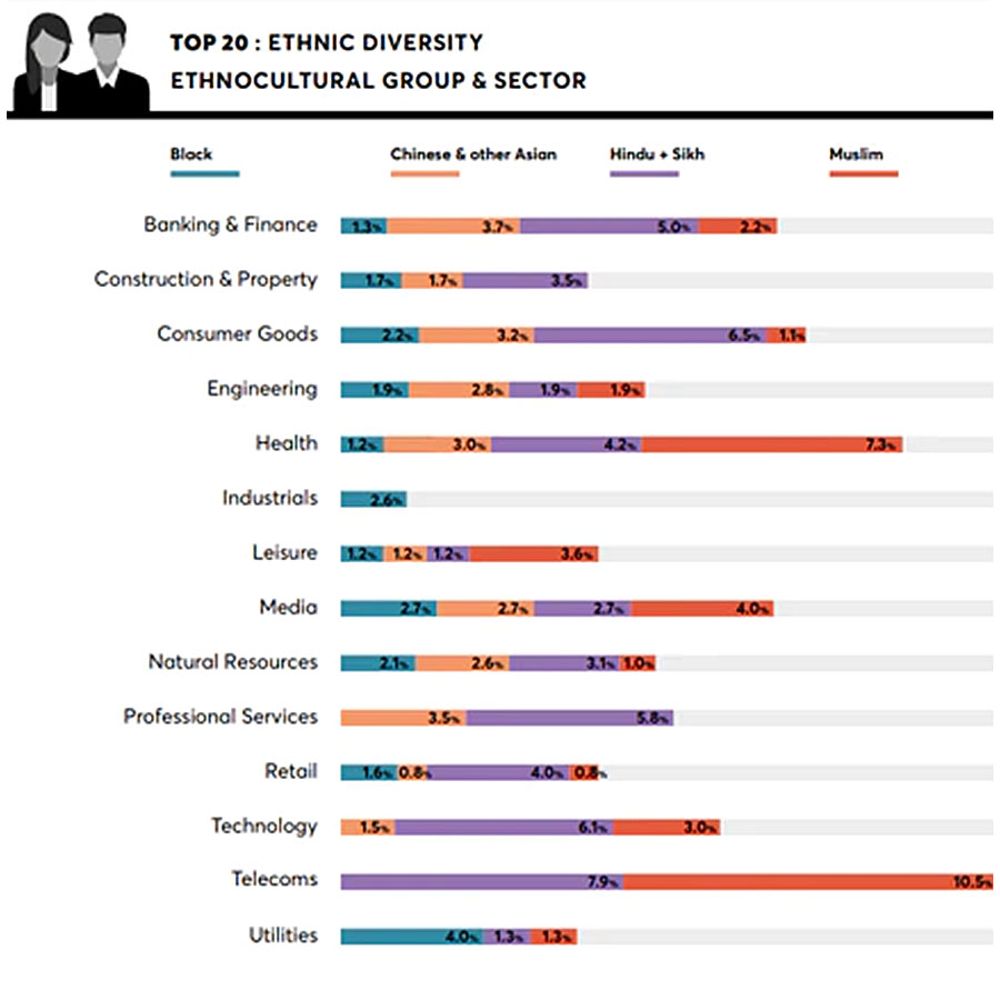 Figure 1: Source: Green Park Business Leaders Index. Top 20 refers to board and executive committee level